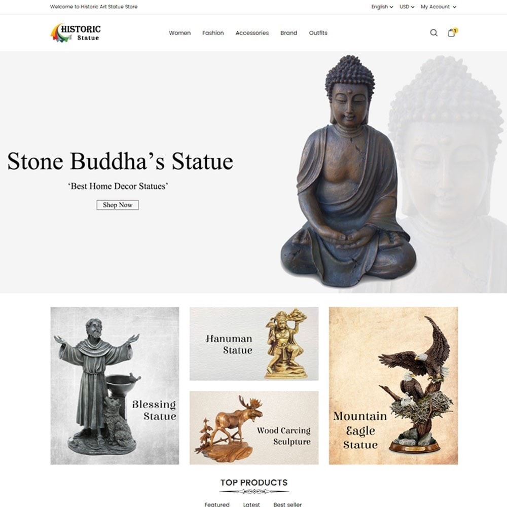 theme - Art & Culture - Historic Art Statue Store - 2