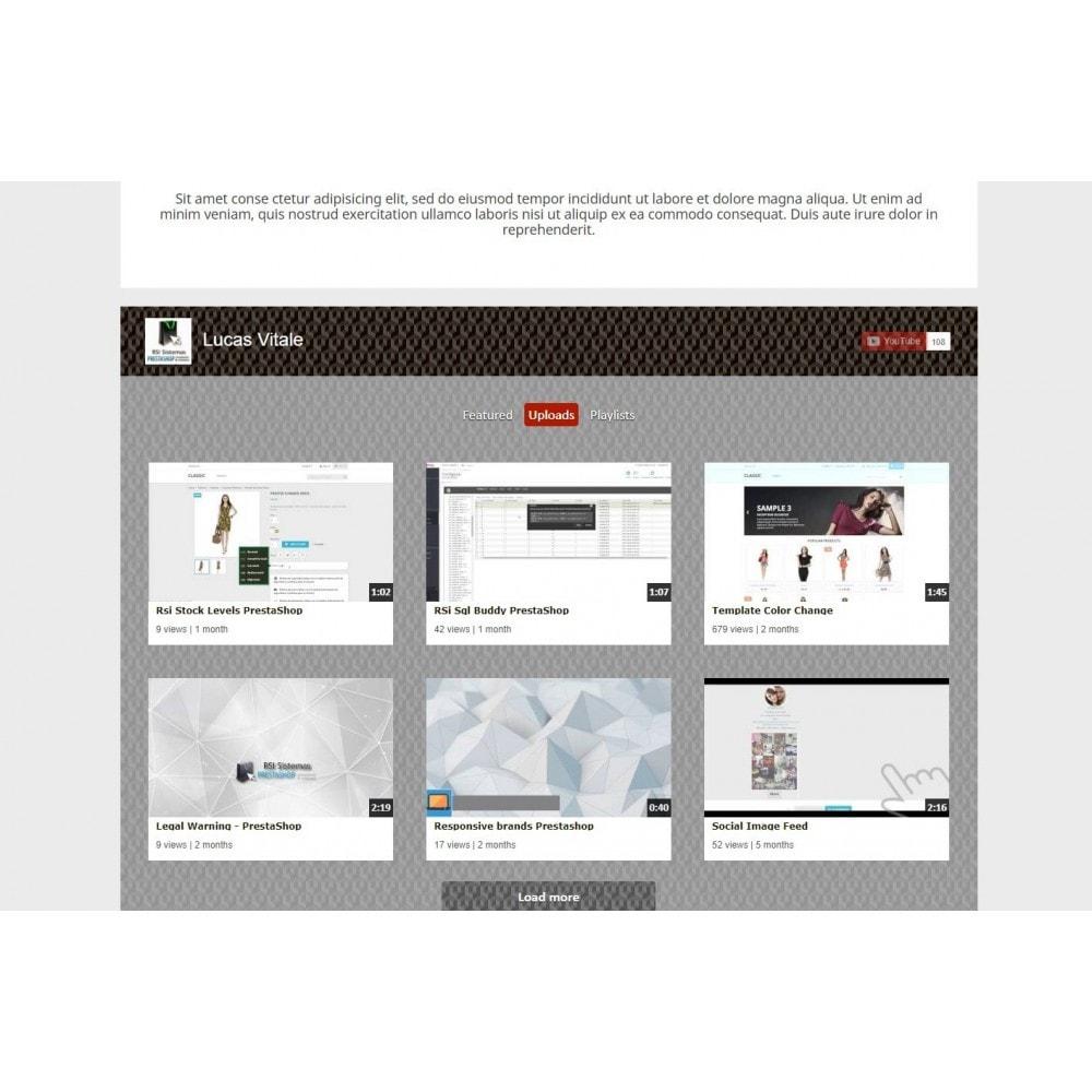module - Widgets réseaux sociaux - Youtube Wall - 5