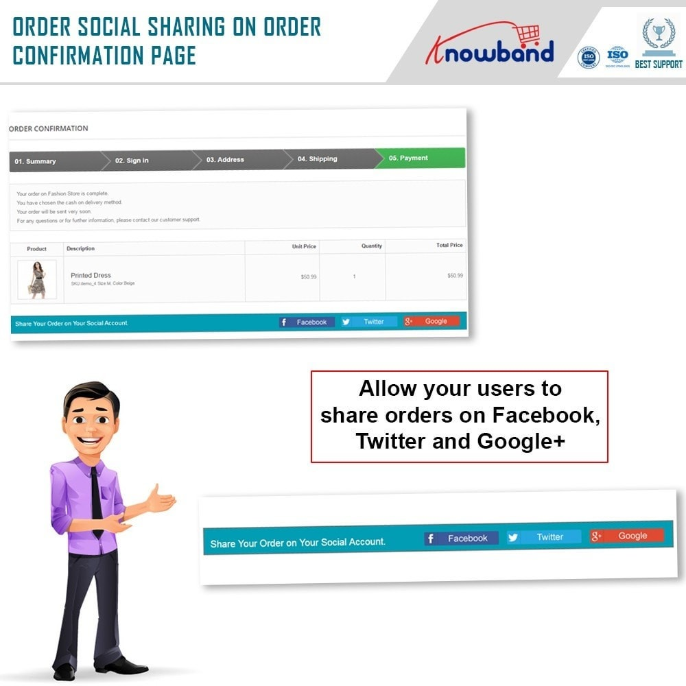 module - Share Buttons & Comments - Knowband - Order Social Sharing - 2