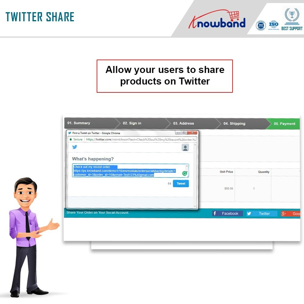 module - Share Buttons & Comments - Knowband - Order Social Sharing - 5