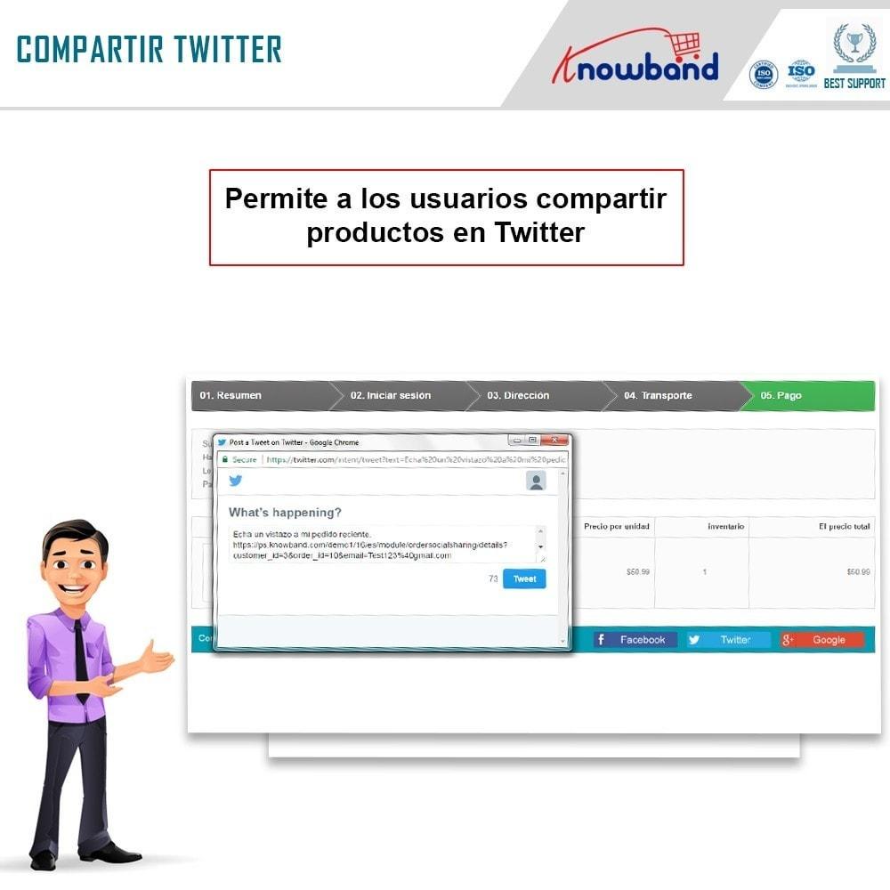 module - Compartir contenidos y Comentarios - Knowband - Compartir Pedidos en Redes Sociales - 5