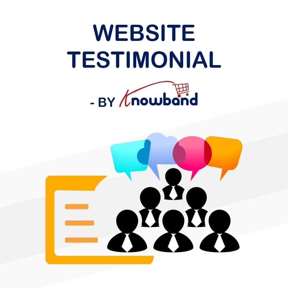 module - Kundenbewertungen - Knowband - Website Testimonial - 1