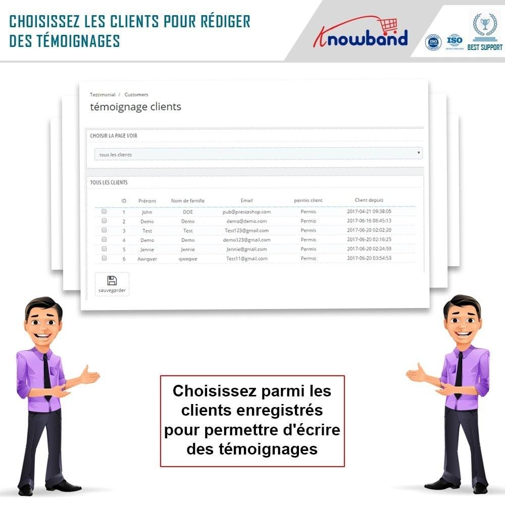 module - Avis clients - Knowband - Témognages sur le Site - 7