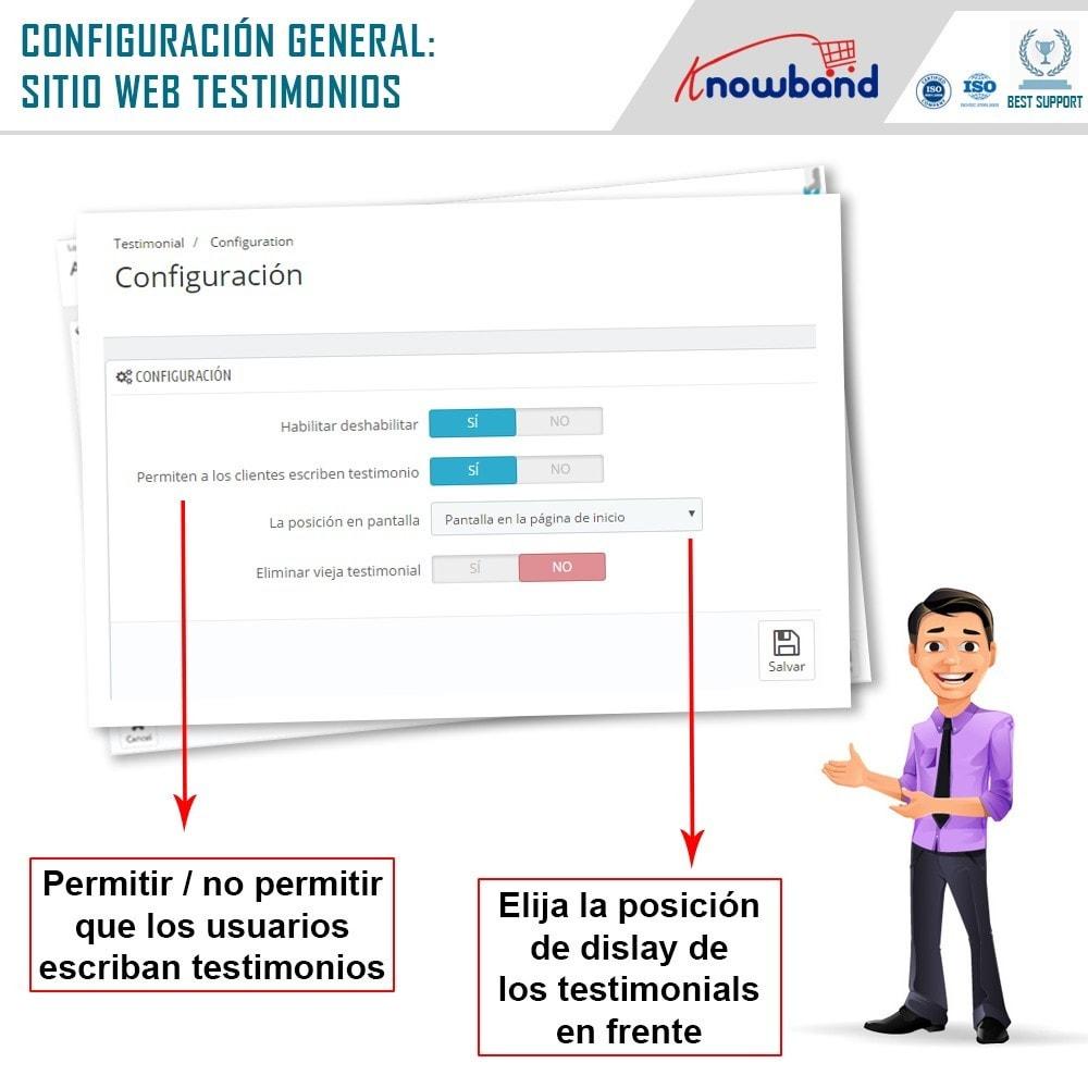 module - Comentarios de clientes - Knowband - Testimonios - 5