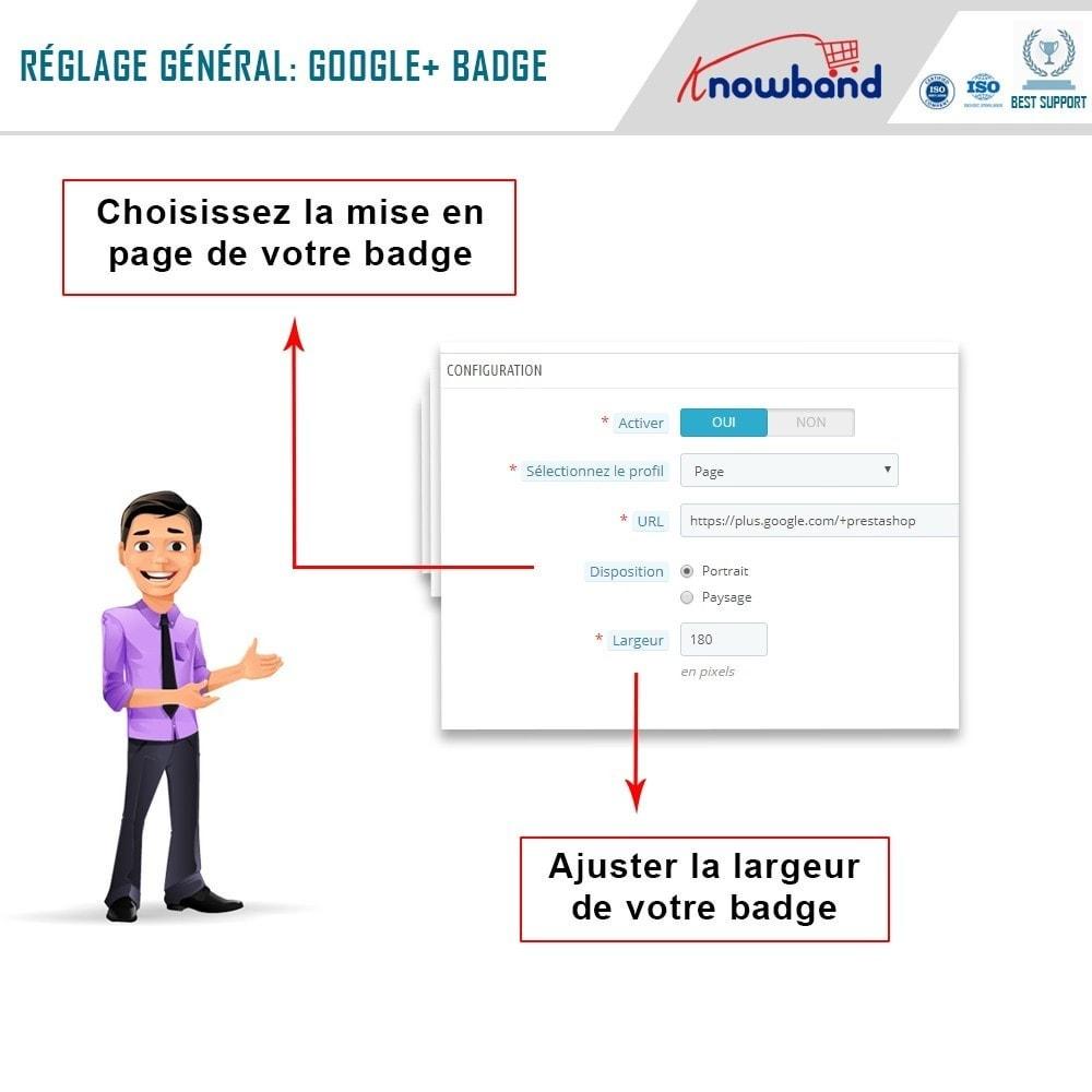 module - Widgets réseaux sociaux - Knowband - Badge Google Plus - 5