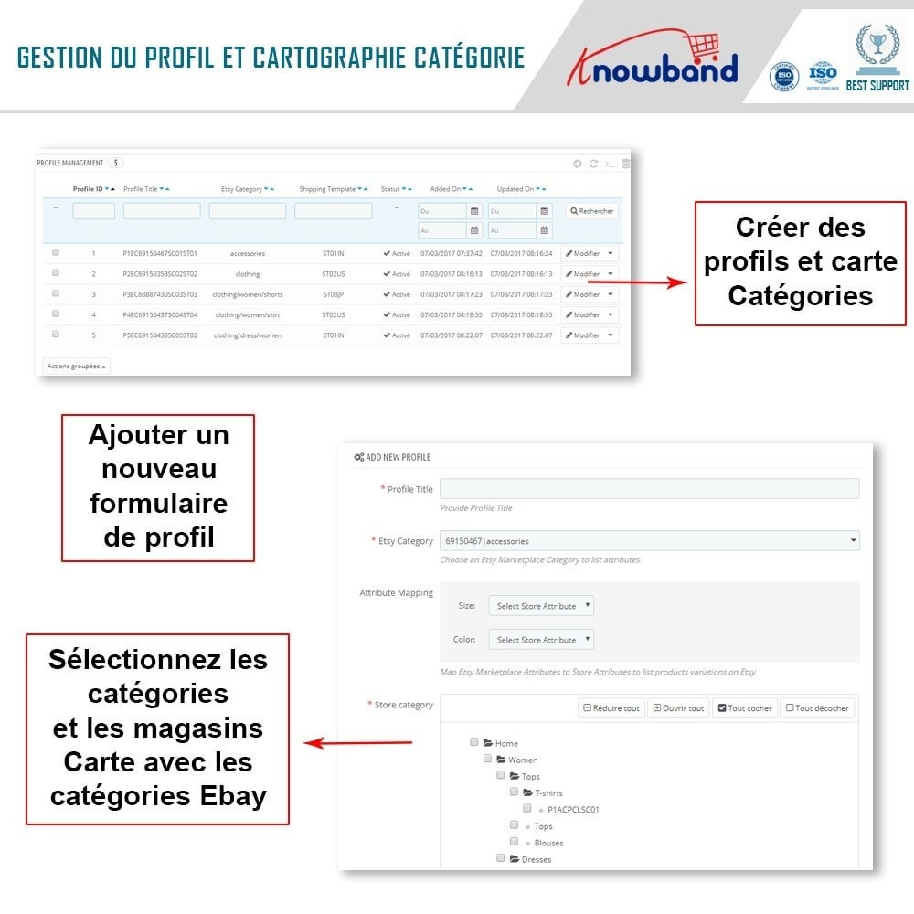bundle - Connexion à un logiciel tiers (CRM, ERP...) - Marketplace Integration pack - Sell on top marketplace - 6