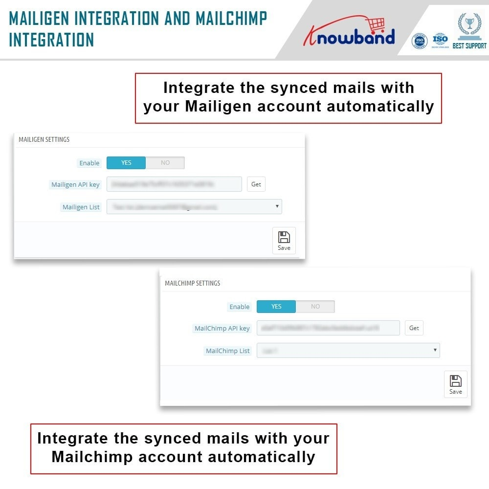 module - Newsletter & SMS - Knowband - Integrator per Mailigen e MailChimp - 6