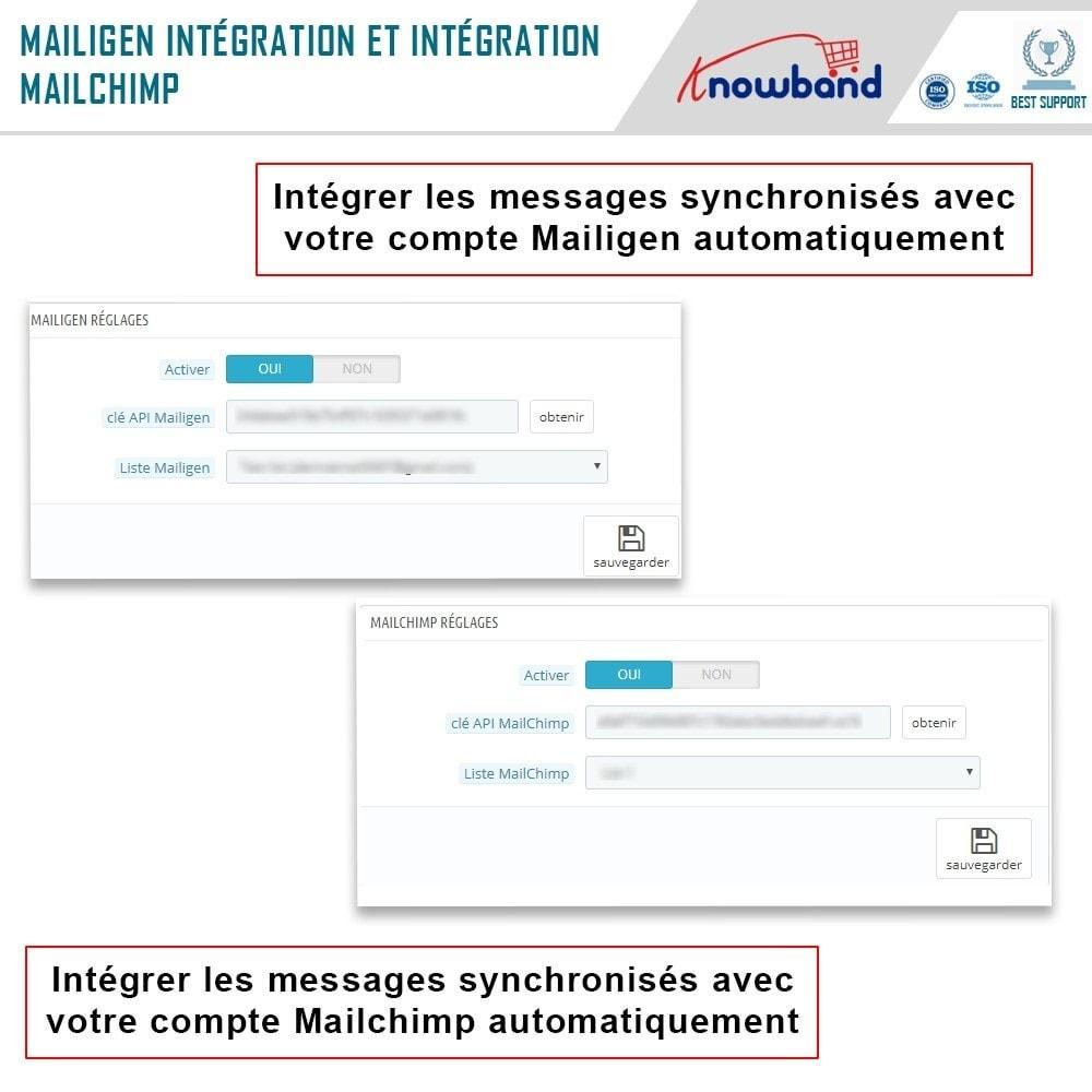 module - Newsletter & SMS - Knowband - Intégrateur Mailigen et MailChimp - 6