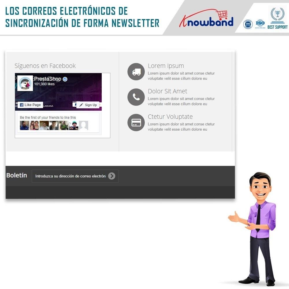 module - Newsletter y SMS - Knowband - Integrador Mailigen y MailChimp - 2