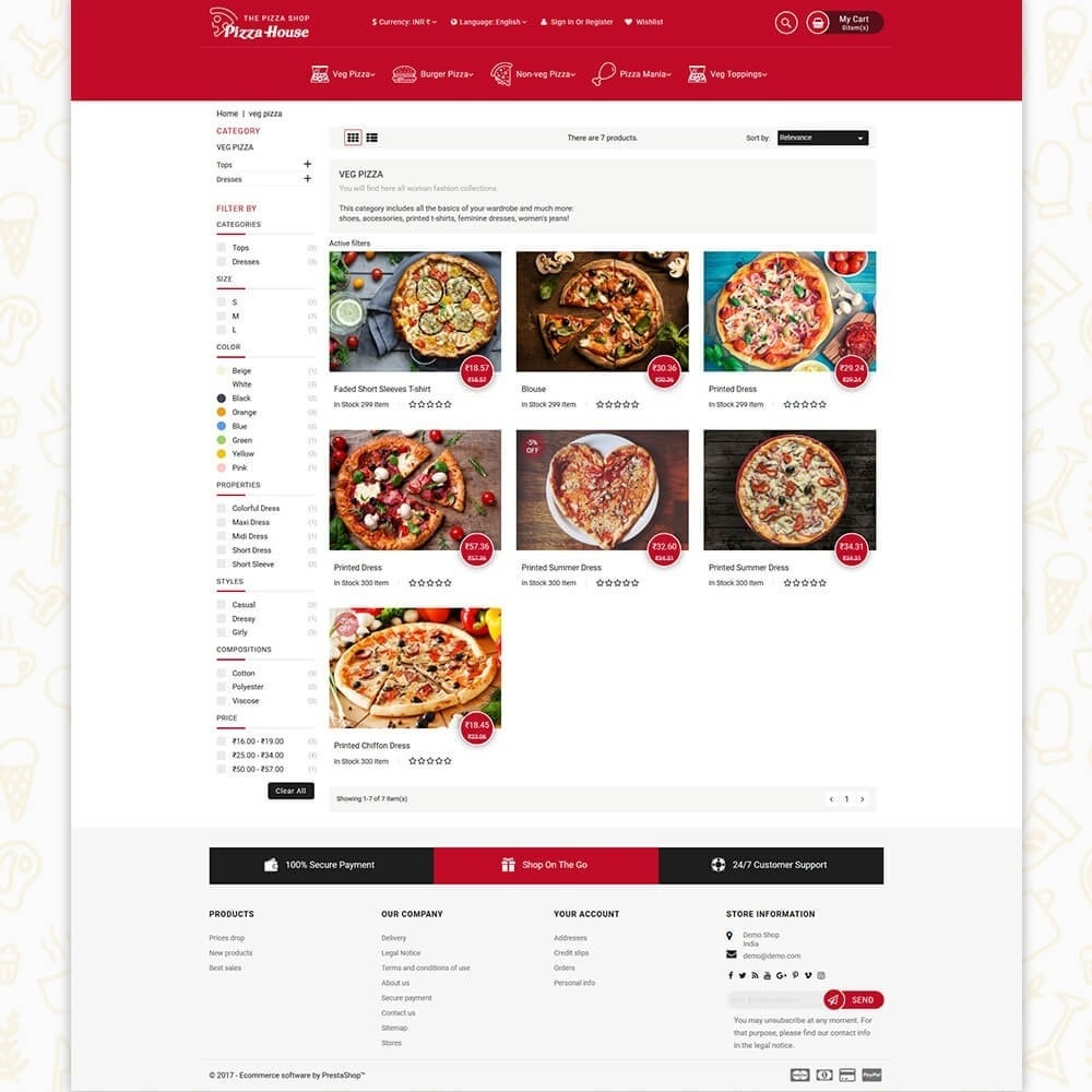 theme - Food & Restaurant - Pizza House Store - 3