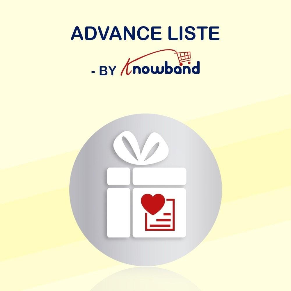 module - Liste de souhaits & Carte cadeau - Knowband - Liste de souhaits avancée - 1