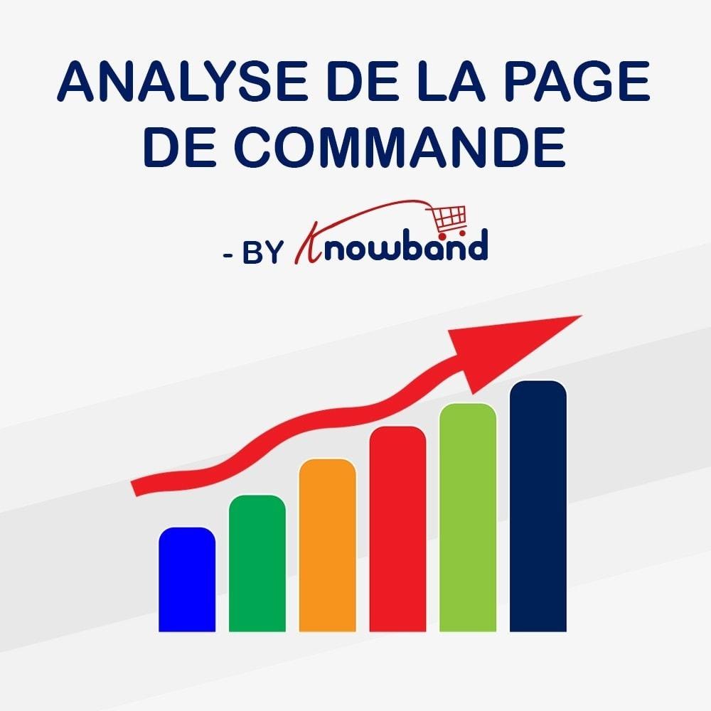 module - Analyses & Statistiques - Knowband - Analyse de la page de Commande - 1