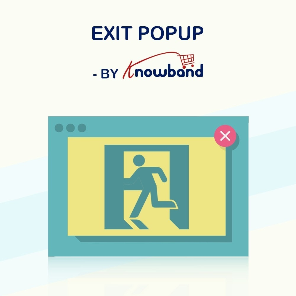 module - Remarketing & Shopping Cart Abandonment - Knowband - Exit Popup (Email Subscription) pop up - 1