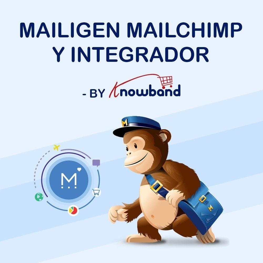 module - Newsletter y SMS - Knowband - Integrador Mailigen y MailChimp - 1