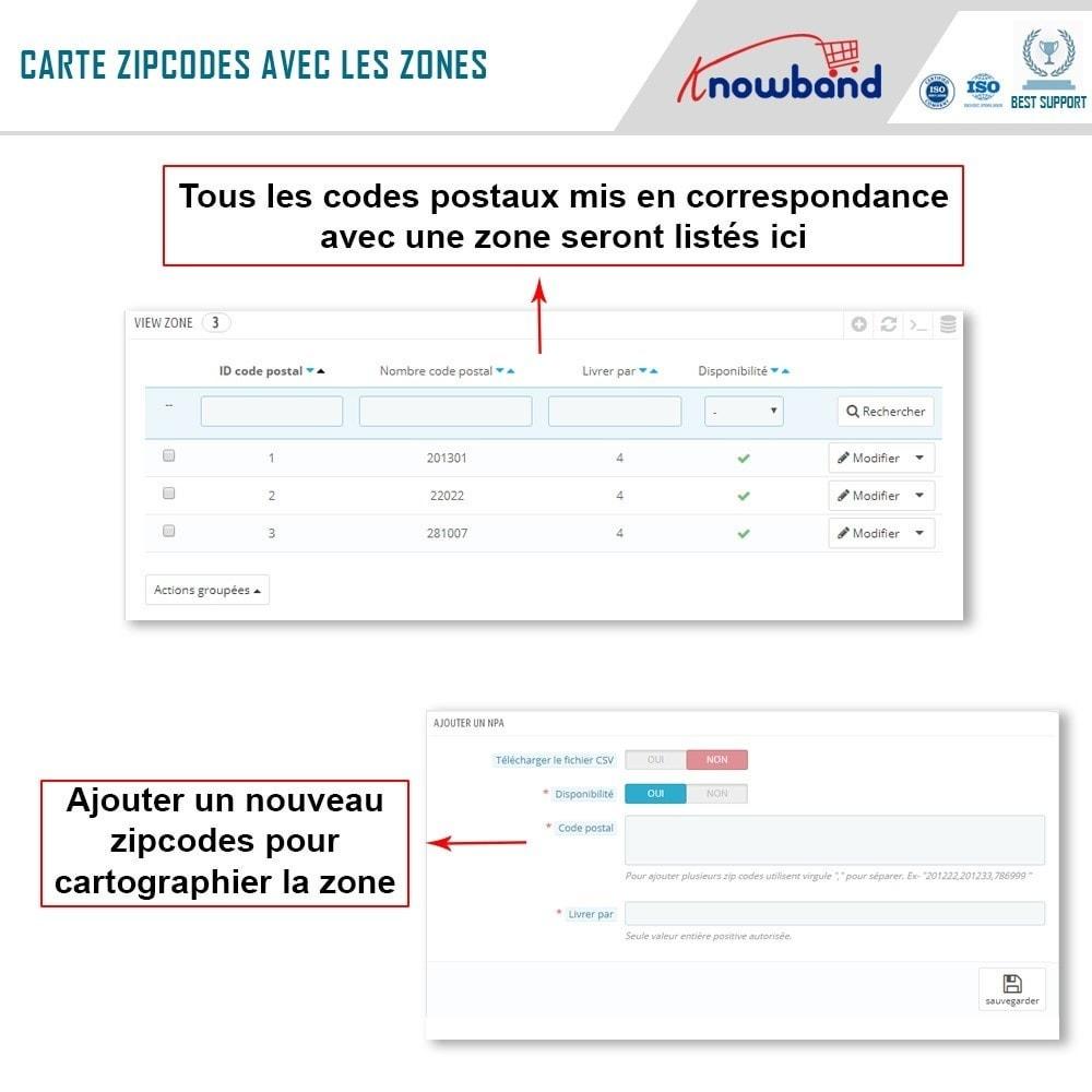 module - International & Localisation - Knowband - Disponibilité de produit par code postal - 6