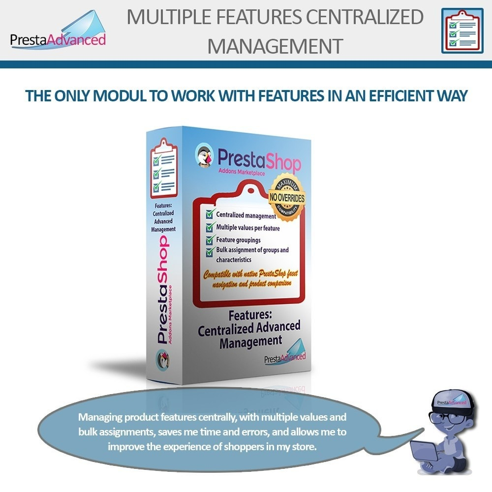module - Snelle & seriematige bewerking - Features: Centralized Advanced Management - 1