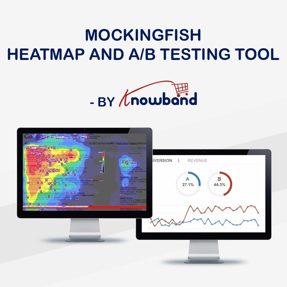 module - Analyses & Statistieken - Knowband -  MockingFish, Heatmap and A/B Testing Tool - 1