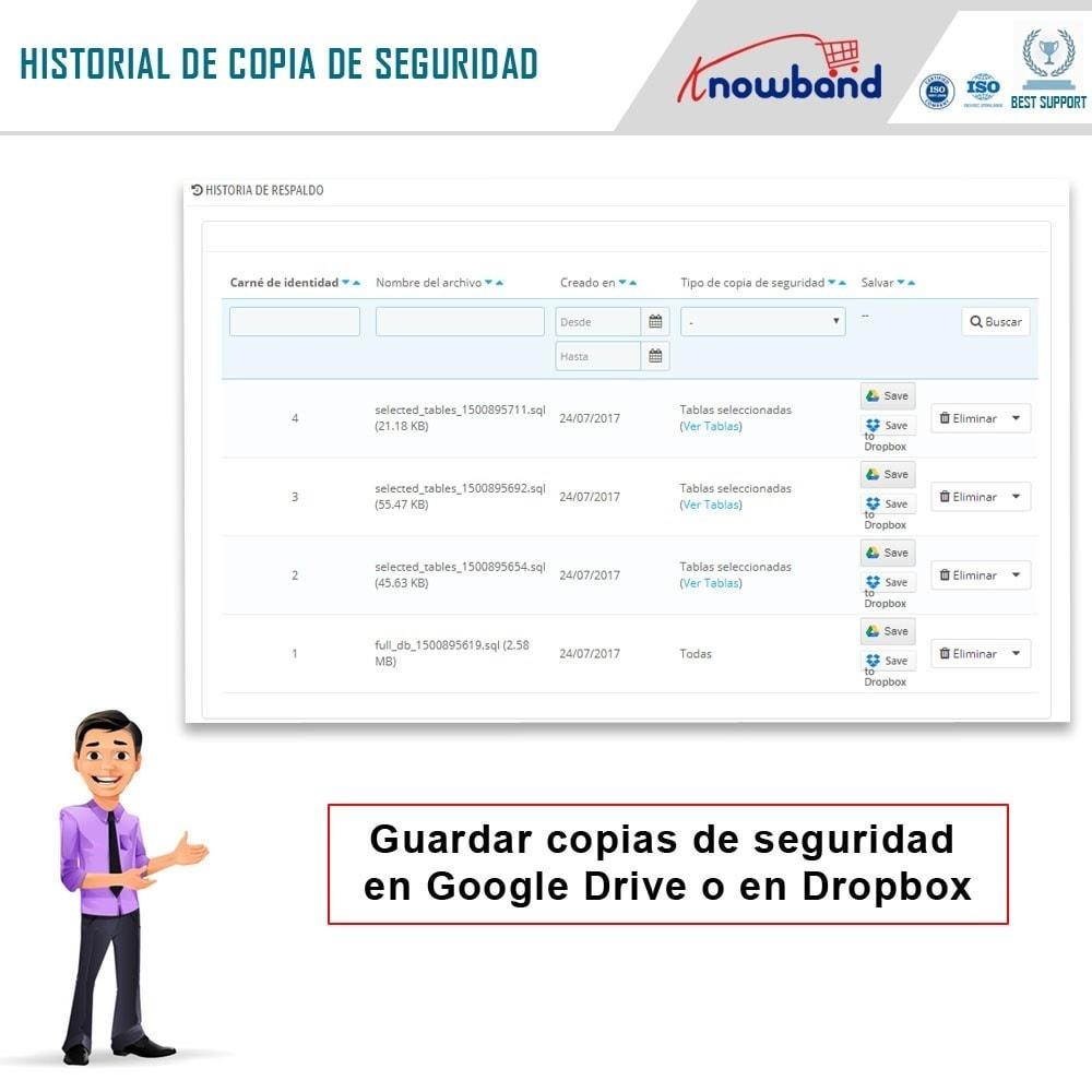 module - Migración y Copias de seguridad - Knowband - Administrador de copia de seguridad EasyDB - 5