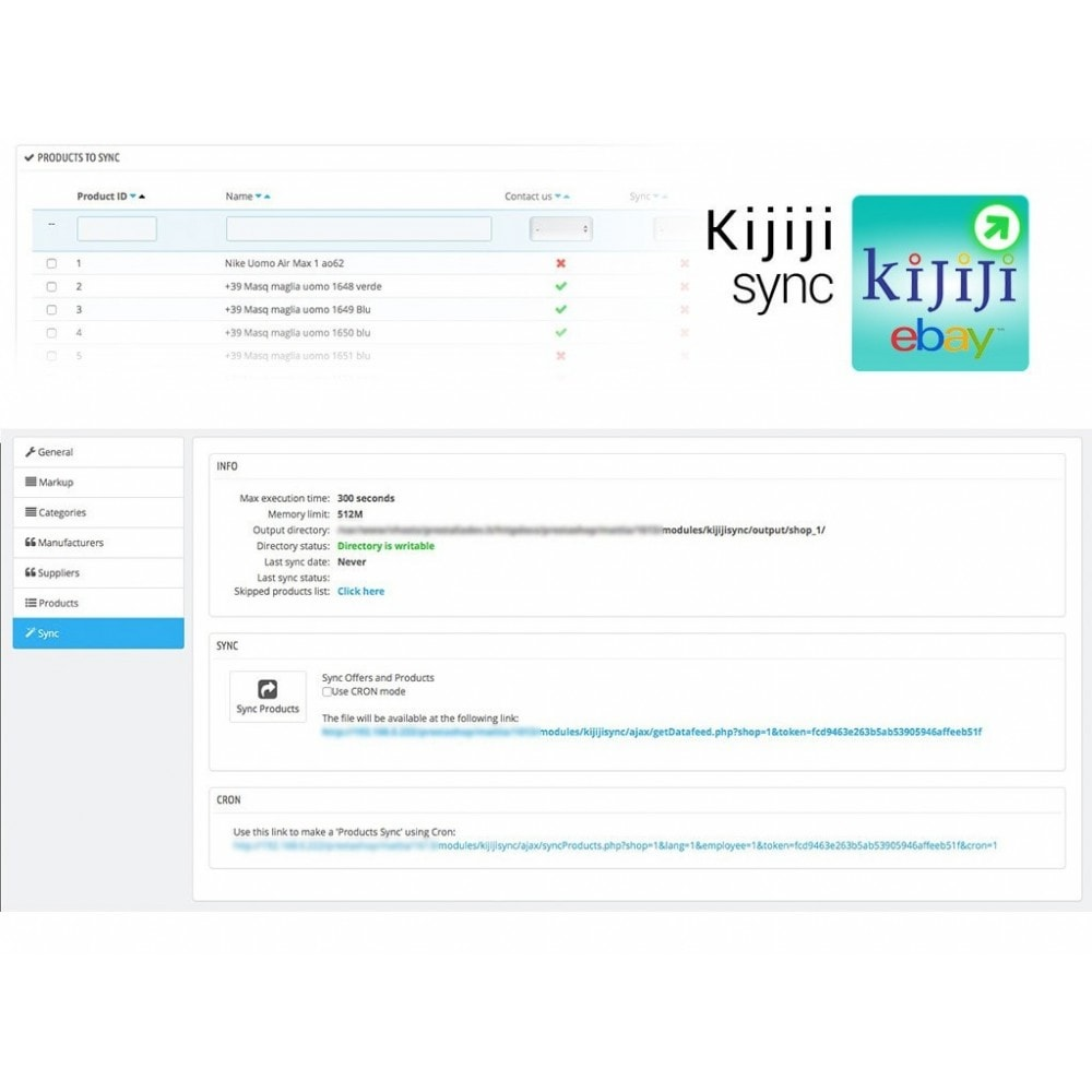 module - Marketplaces - Sync Prestashop to Kijiji - 3