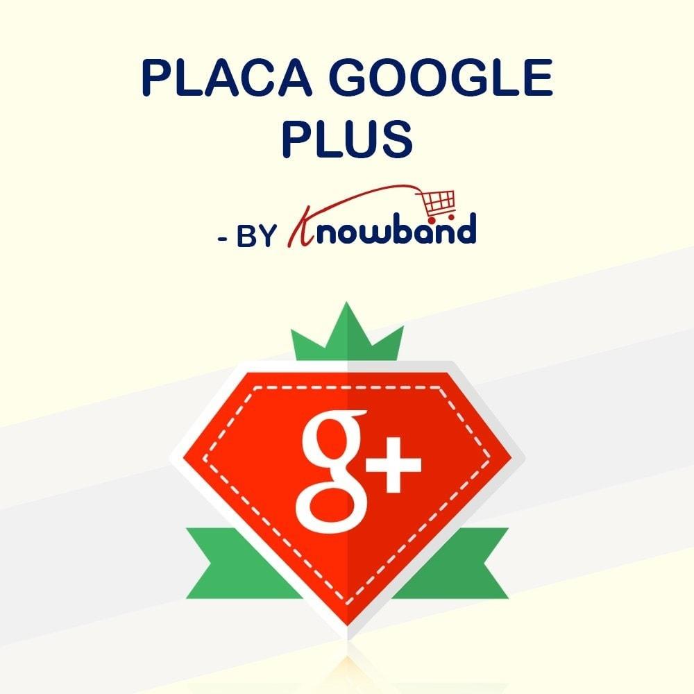 module - Widgets para redes sociales - Knowband - Insignia de Google Plus - 1