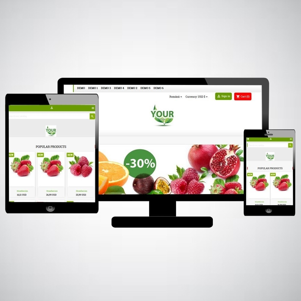 theme - Food & Restaurant - FruitsFoodWeb - 1