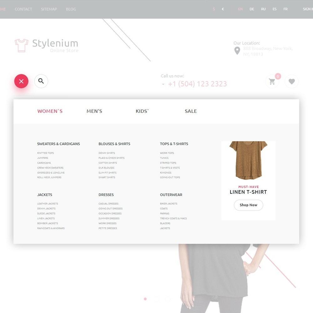 theme - Moda y Calzado - Stylenium - Tema de PrestaShop para Sitio de Ropa - 3