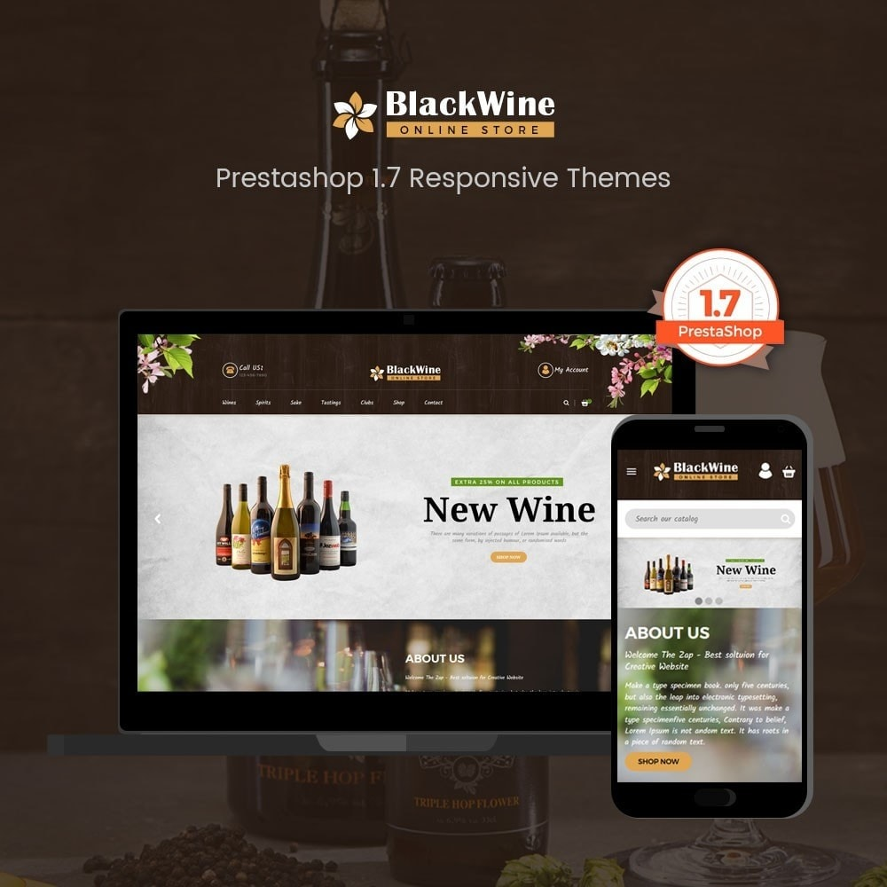 theme - Template PrestaShop - Wine Stores - 1