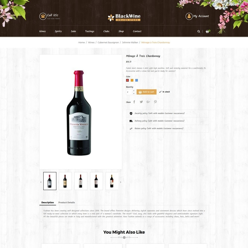 theme - Template PrestaShop - Wine Stores - 5