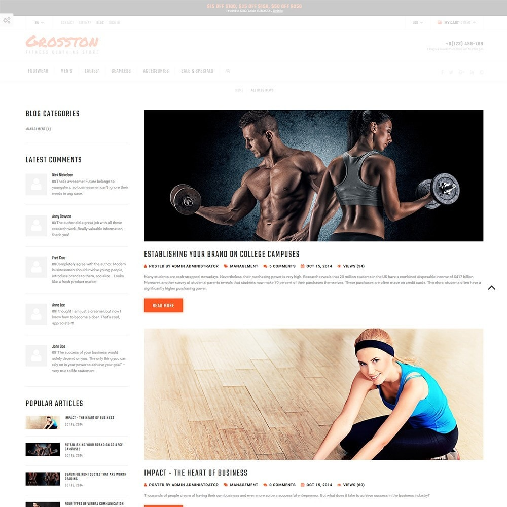 theme - Desporto, Actividades & Viagens - Crosston - Fitness Clothing Store - 5