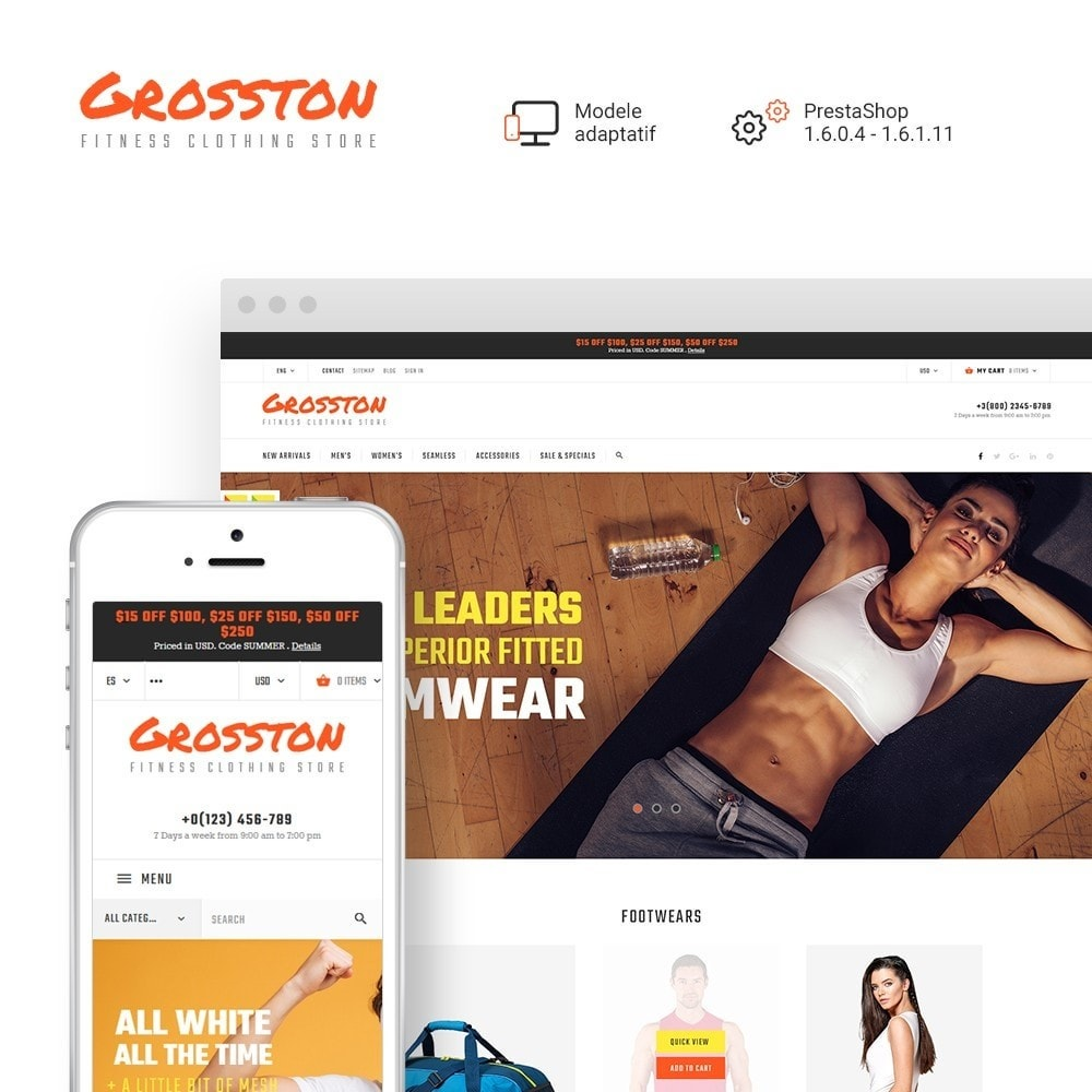 Crosston - Magasin de vêtements de fitness PrestaShop
