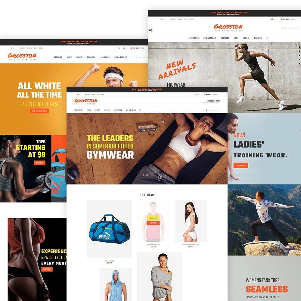 Crosston - Magasin de vêtements de fitness PrestaShop