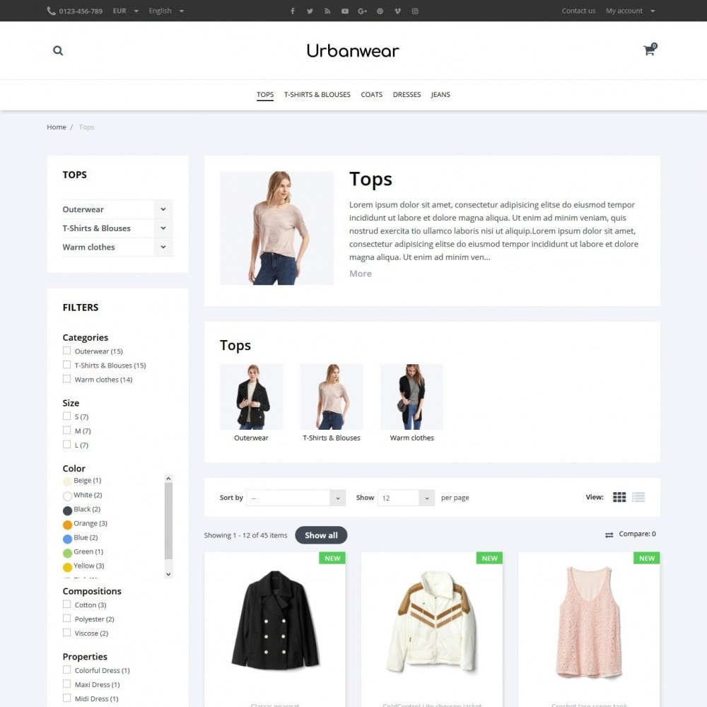 theme - Мода и обувь - Urbanwear  Fashion Store - 5