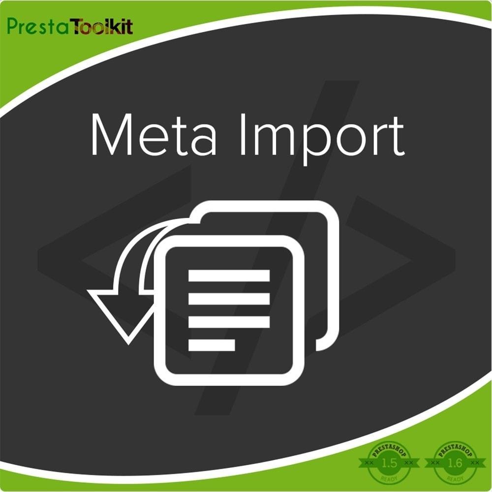 module - SEO (référencement naturel) - Tags SEO, importation de balises méta - 1