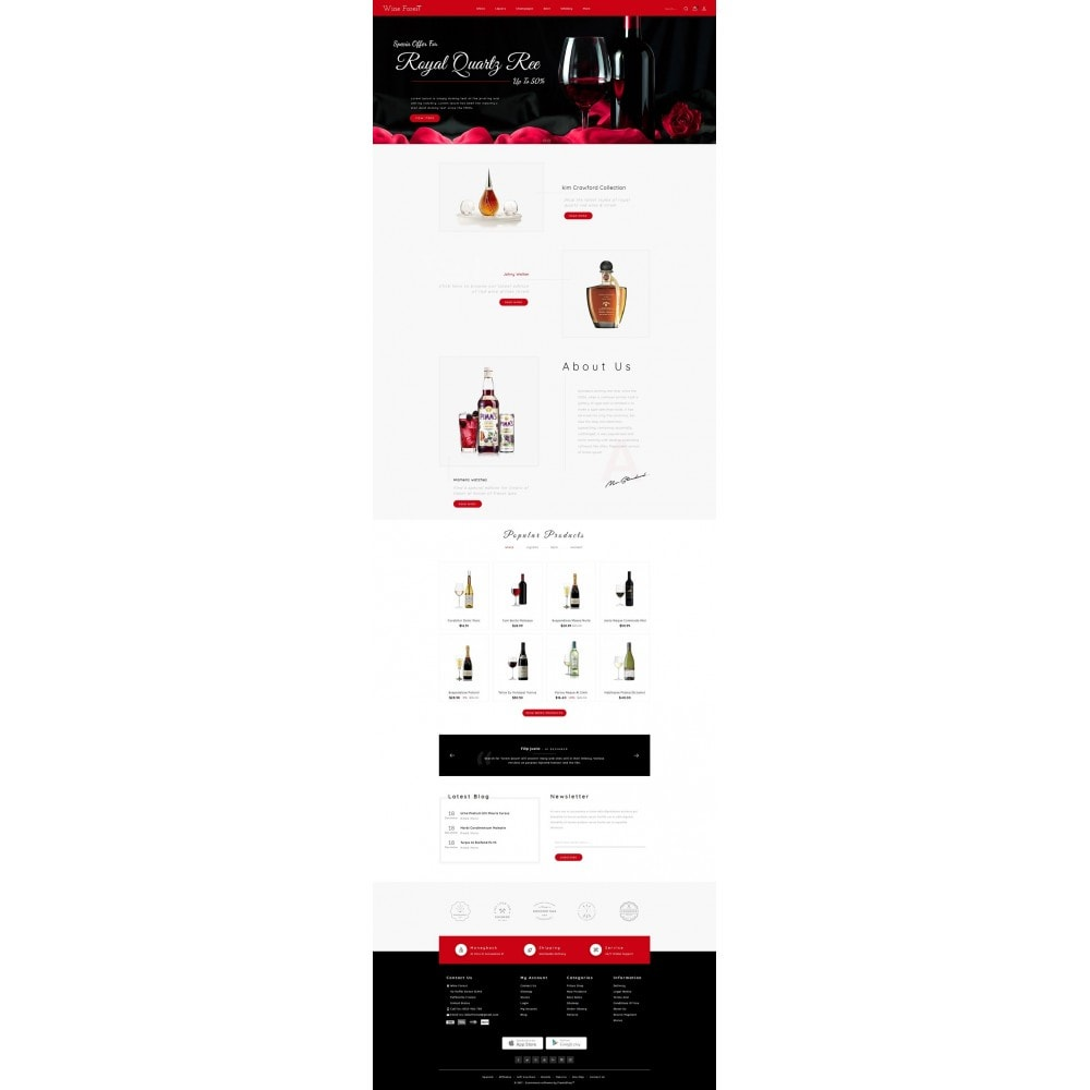 theme - Boissons & Tabac - Wine Forest Store - 2