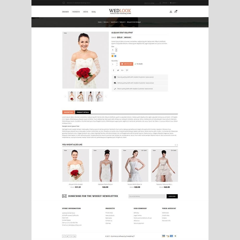 theme - Mode & Chaussures - Wedlook Wedding Store - 5