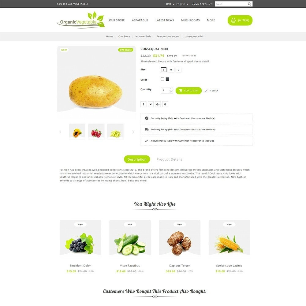 theme - Alimentos & Restaurantes - Organic Vegetable Store - 5