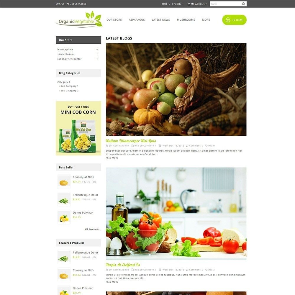 theme - Alimentos & Restaurantes - Organic Vegetable Store - 6