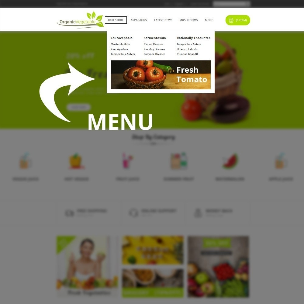 theme - Alimentos & Restaurantes - Organic Vegetable Store - 10