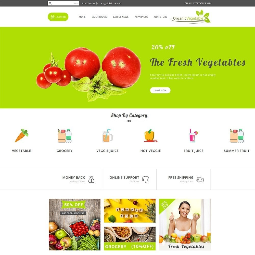 theme - Alimentos & Restaurantes - Organic Vegetable Store - 12