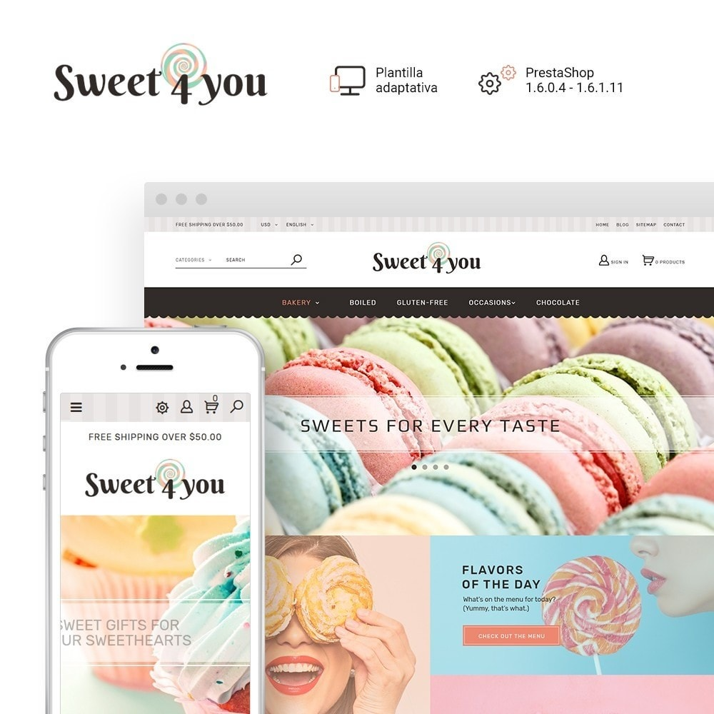 Sweet4you - para Sitio de Tienda de Dulces