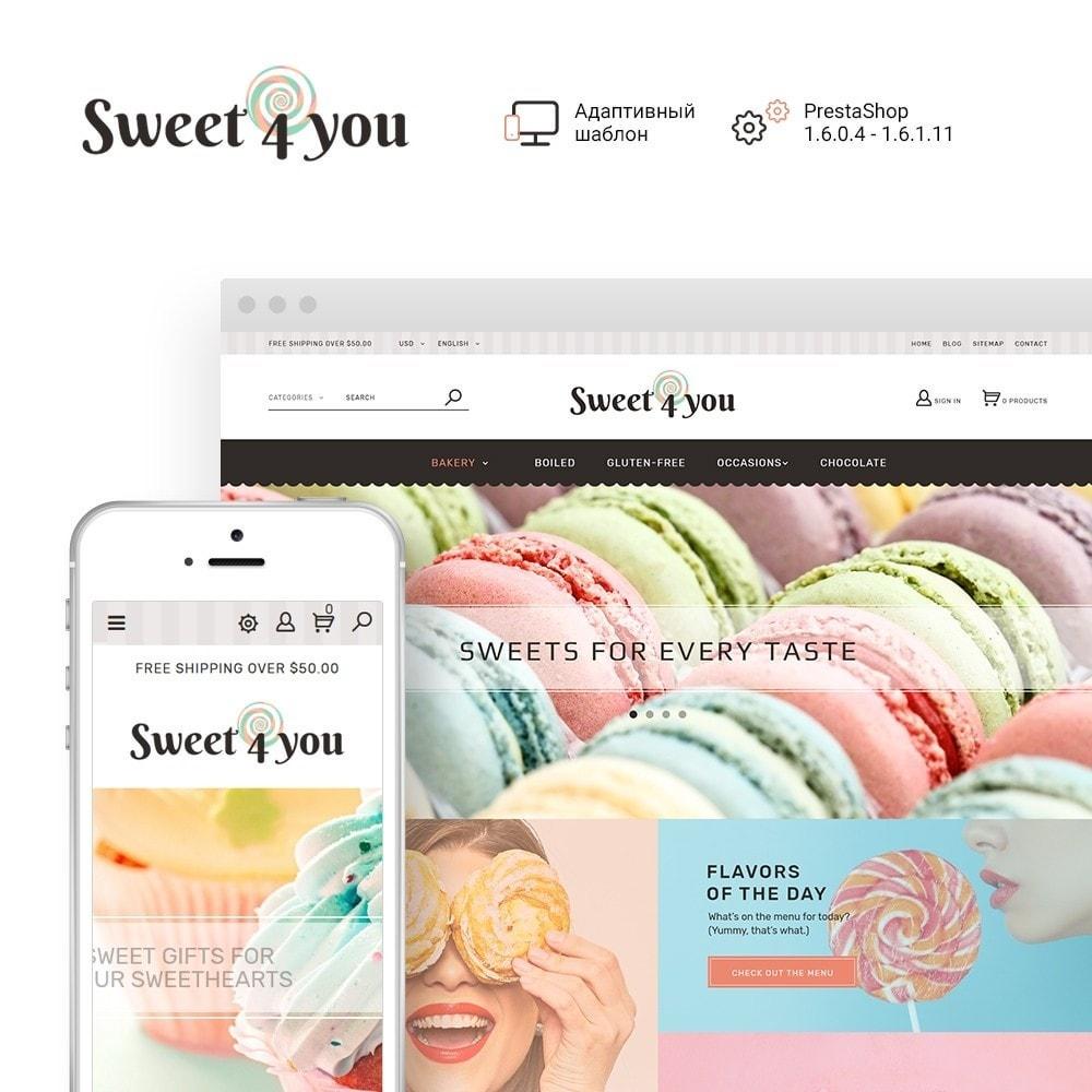 theme - Продовольствие и рестораны - Sweet4you - шаблон по продаже сладостей - 2