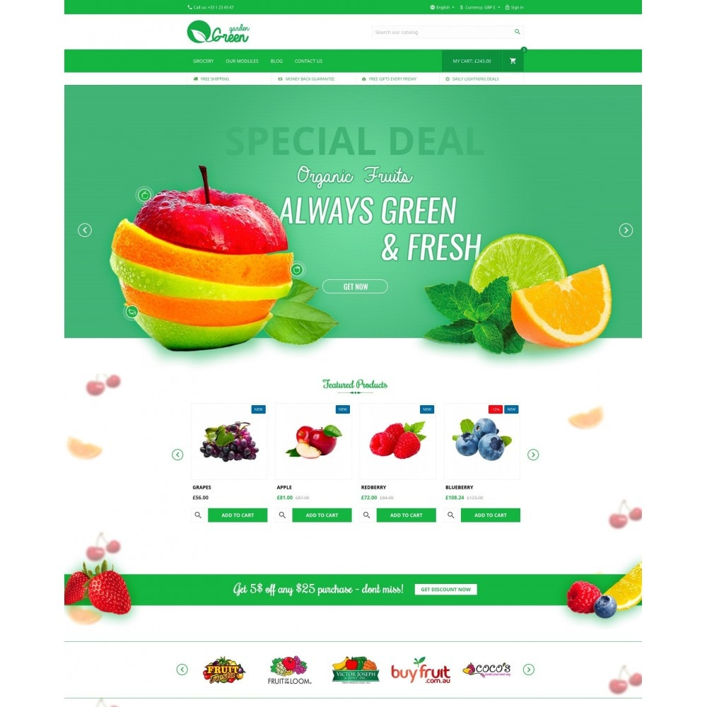 theme - Alimentation & Restauration - Green Garden - 2