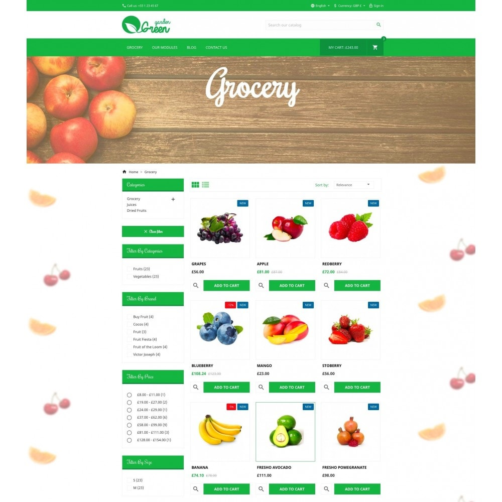 theme - Alimentation & Restauration - Green Garden - 5