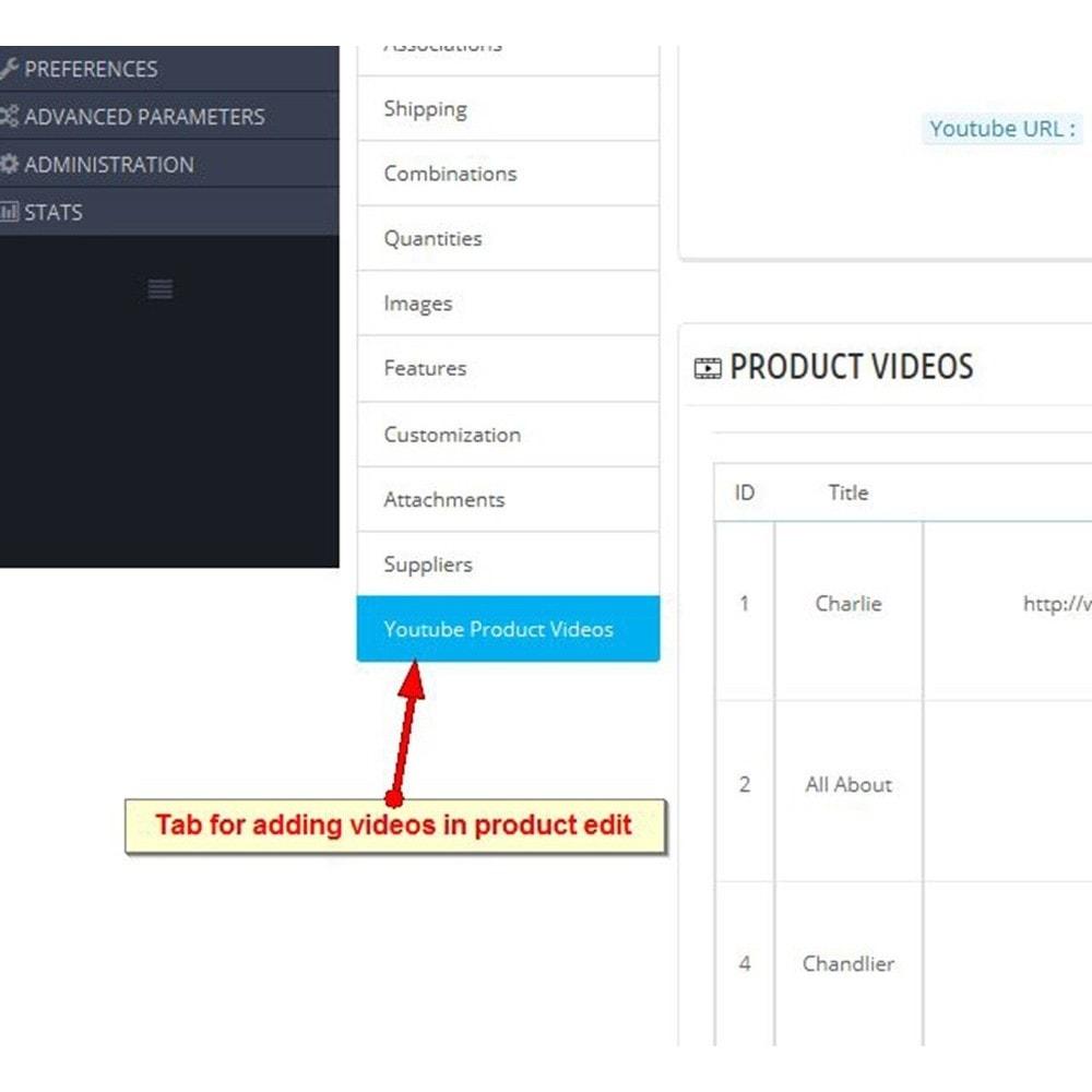 module - Vidéo & Musique - Vidéos du produit Youtube - 7