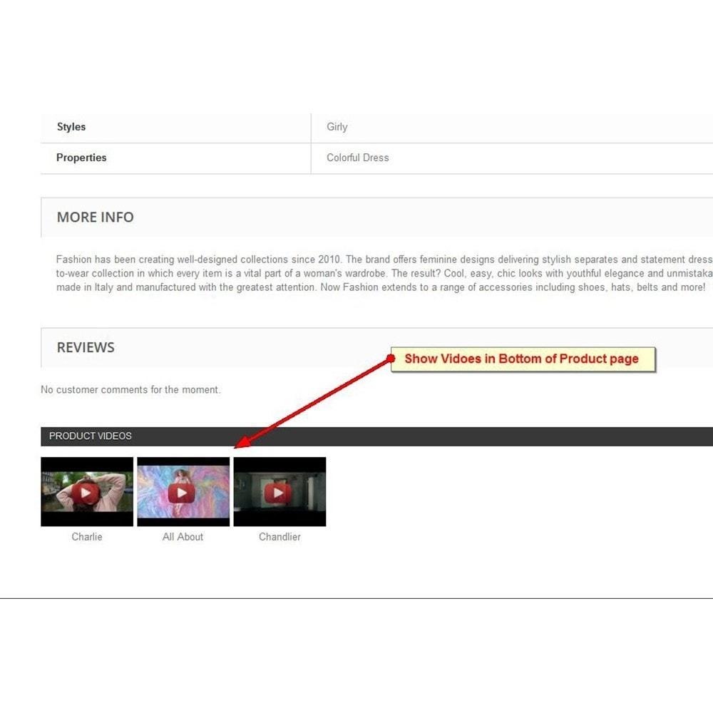 module - Video & Musica - Video dei prodotti Youtube - 3