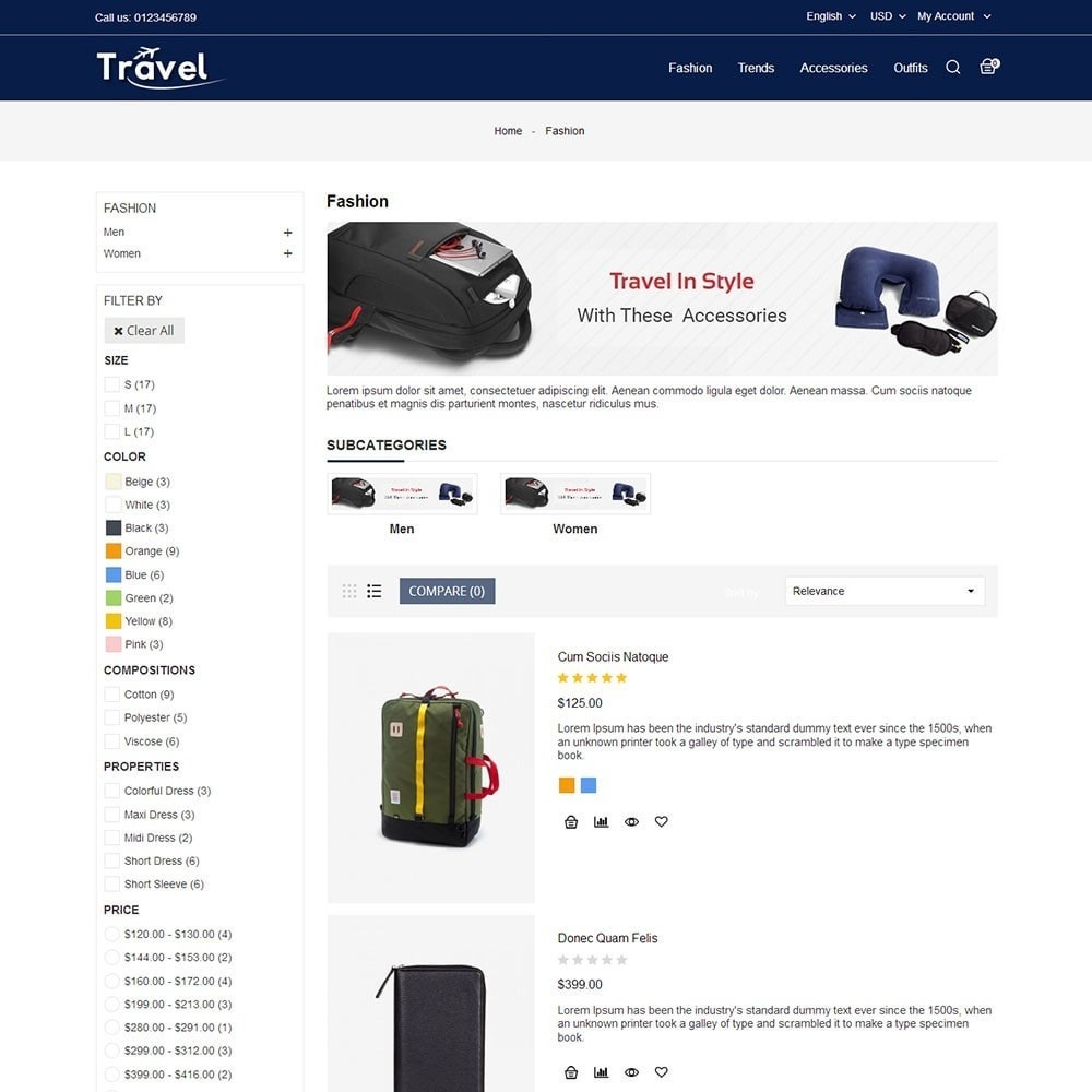 theme - Sports, Activities & Travel - Travel Store - 4
