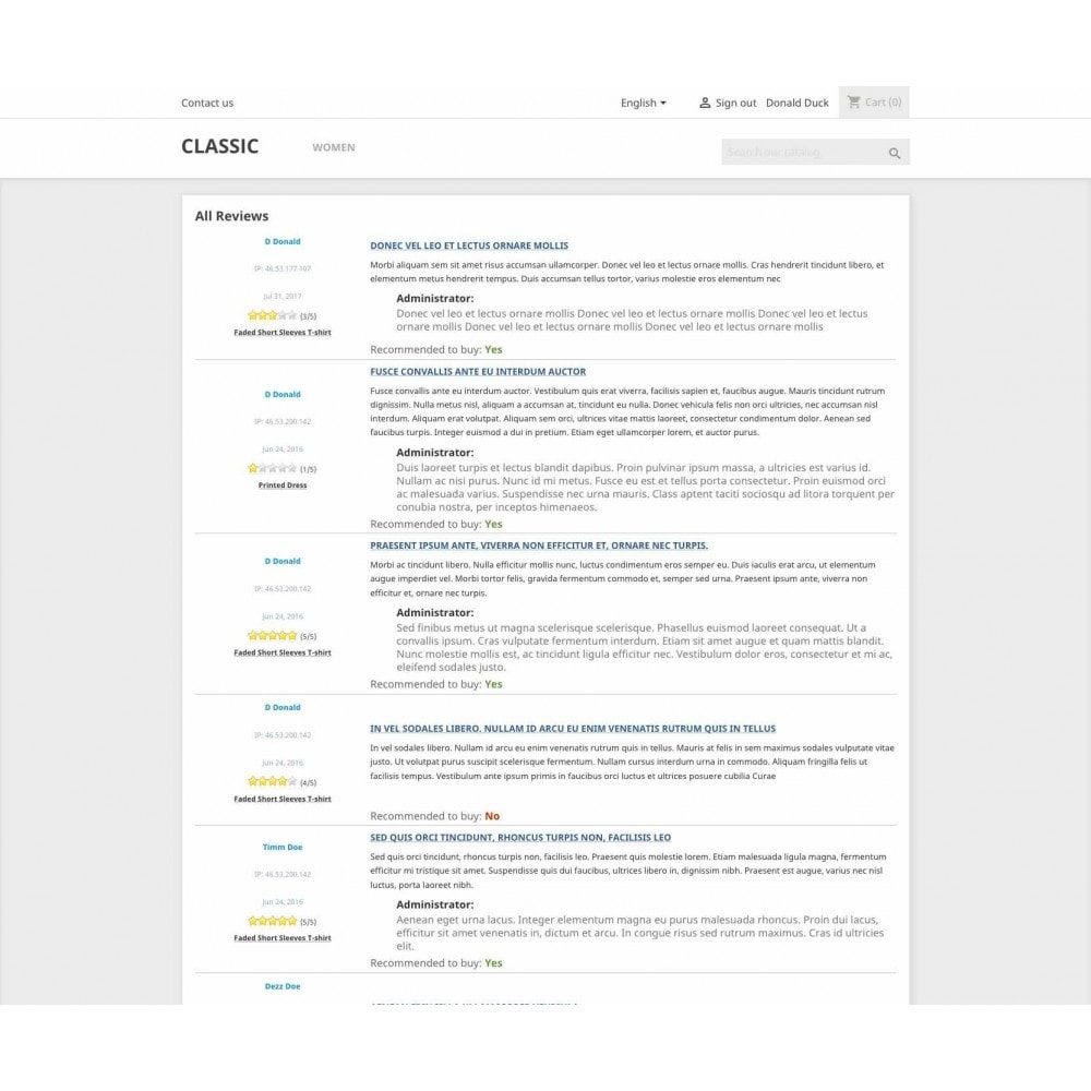 module - Comentarios de clientes - Product reviews simple + - 12
