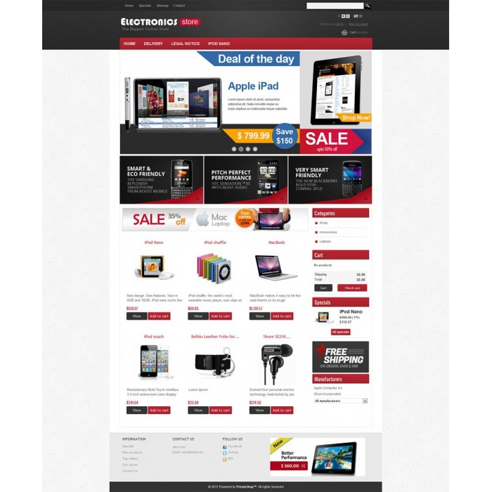 theme - Elettronica & High Tech - Prestashop Electronics Store Theme - 4