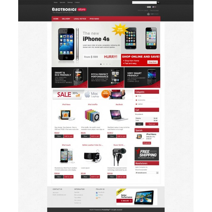 theme - Elettronica & High Tech - Prestashop Electronics Store Theme - 2