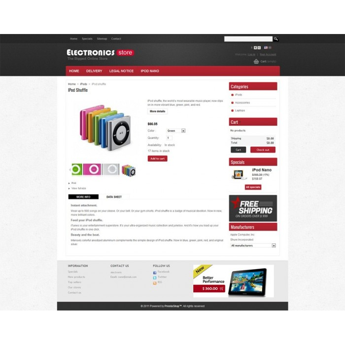 theme - Elettronica & High Tech - Prestashop Electronics Store Theme - 3